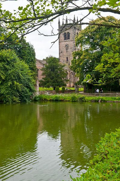 Gawsworth, St James Church photo, The church and pool