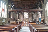 Gawsworth, St James Church, View up the nave