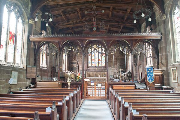 Gawsworth, St James Church photo, View up the nave