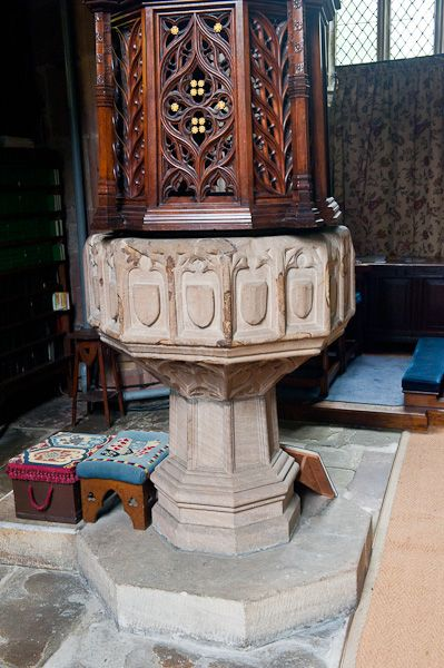 Gawsworth, St James Church photo, Late medieval font