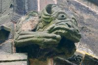 Gawsworth, St James Church, Gargoyle on south porch