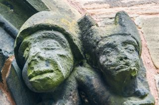 Gawsworth, St James Church, Carved heads