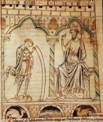 Illustration from Geoffrey of Monmouth's Prophetiae Merlini