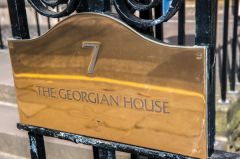 The Georgian House brass name plate