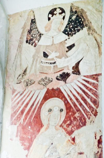 Gisleham, Holy Trinity Church photo, Wall painting 2