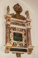 Gittisham, St Michael's Church, John Fiennes memorial, 1671