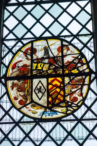 Gittisham, St Michael's Church photo, Heraldic glass panel, south east aisle