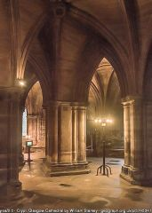 The cathedral crypt (c) William Starkey