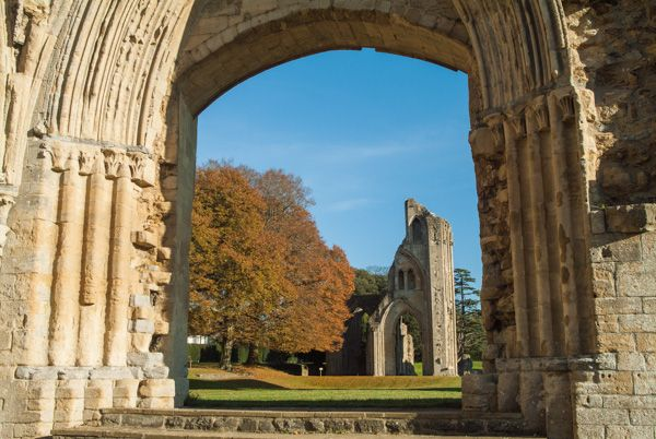 Glastonbury Abbey photo, The Abbey church from the Lady Chapel