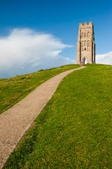 Glastonbury Tor, Approaching St Michael's tower