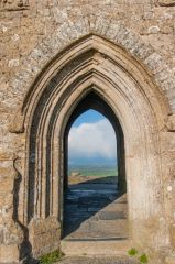 Glastonbury Tor, Looking straight through the tower arches