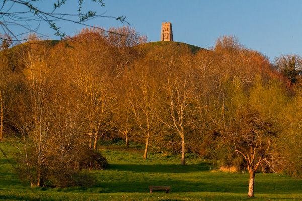 Glastonbury Tor photo, The Tor from the Somerset Levels