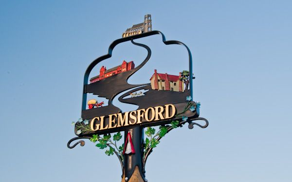 Glemsford photo, The ornate village sign
