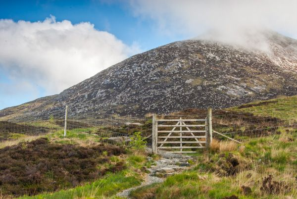 Goatfell photo, The summit of Goatfell in mist