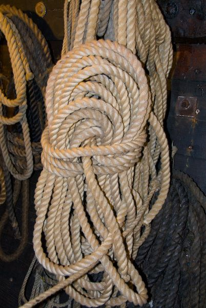Golden Hinde photo, Coil of rope