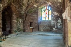 Goodrich Castle, The medieval hall
