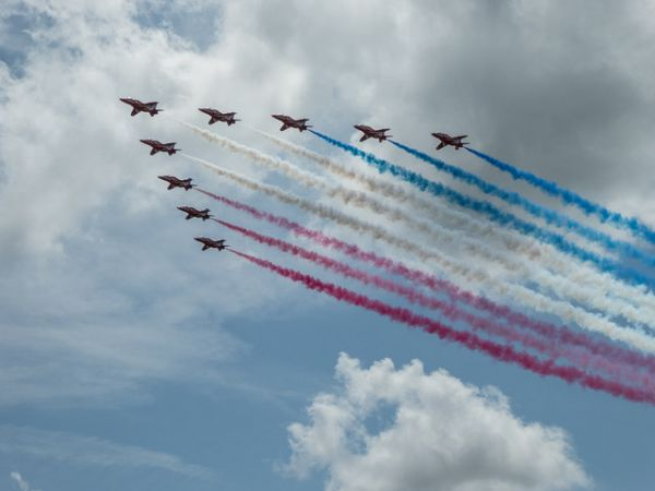 Goodwood House photo, Red arrows at the Festival of Speed 2014 (c) Christine Matthews