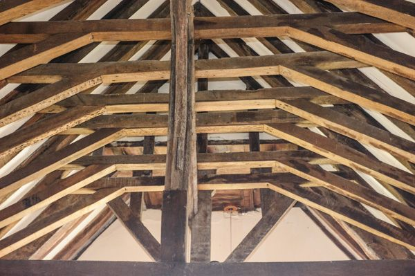 Goosey, All Saints Church photo, Medieval timber roof