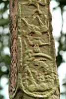 Gosforth Cross, Upside down horseman carving