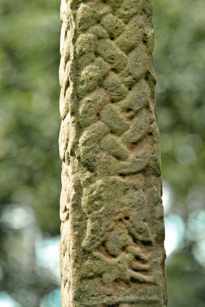 Gosforth Cross photo, Norse serpent