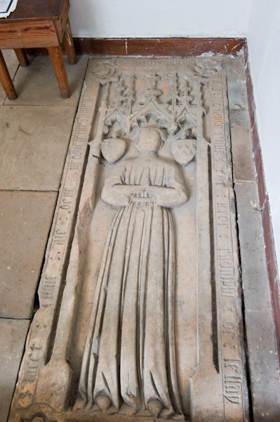 Goxhill, St Giles Church photo, Incised slab to Johanna de Lellay