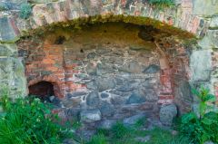 Grace Dieu Priory, Tudor fireplace
