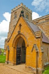 Great Brington, St Mary's Church, The church porch