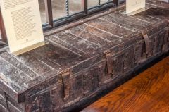 Medieval oak parish chest