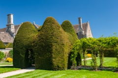 Topiary house in the garden
