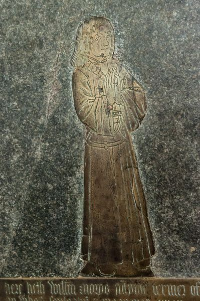 Great Coxwell, St Giles Church photo, 16th century William Morys brass