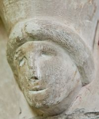 Great Coxwell, St Giles Church, Carved corbel head