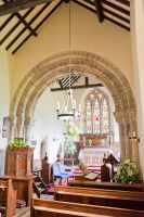 Great Givendale Church, Norman chancel arch