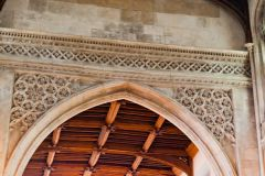 Tudor tracery over the south door
