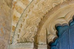 Great Tew, St Michael's Church, Norman carving detail, south doorway