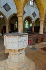 Great Tew, St Michael's Church, The 15th century font
