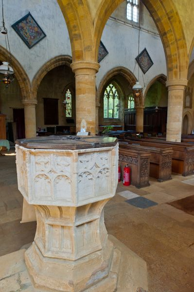 Great Tew, St Michael's Church photo, The 15th century font