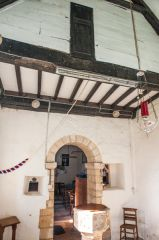 The timber-framed chancel