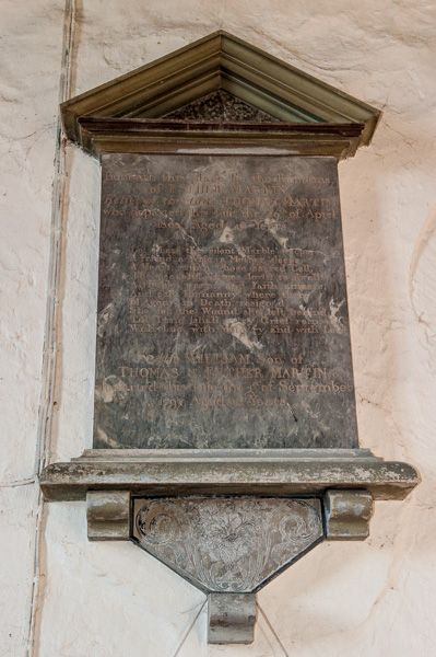 Great Washbourne, St Mary's Church photo, Esther Martin memorial, 1801