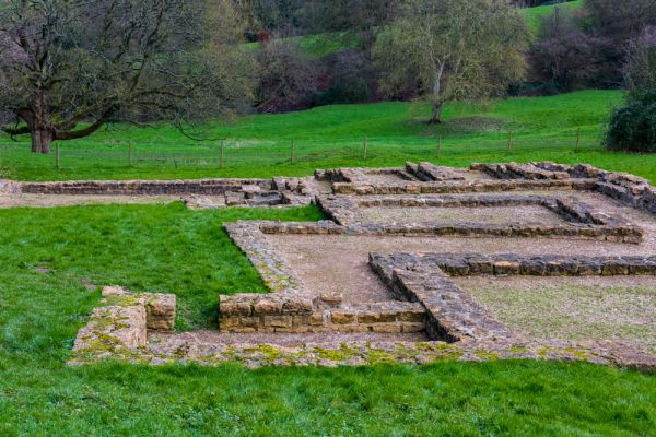 Great Witcombe Roman Villa photo, The family house foundations