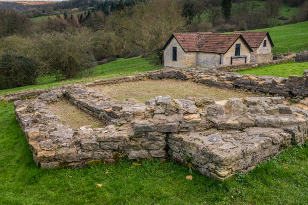 Great Witcombe Roman Villa photo, The octagonal dining room