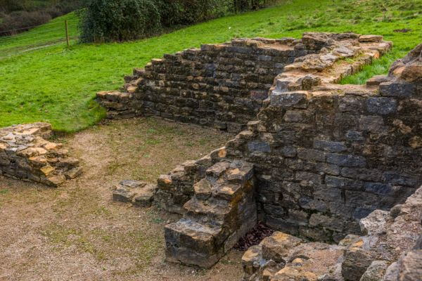 Great Witcombe Roman Villa photo, Foundations of the main house