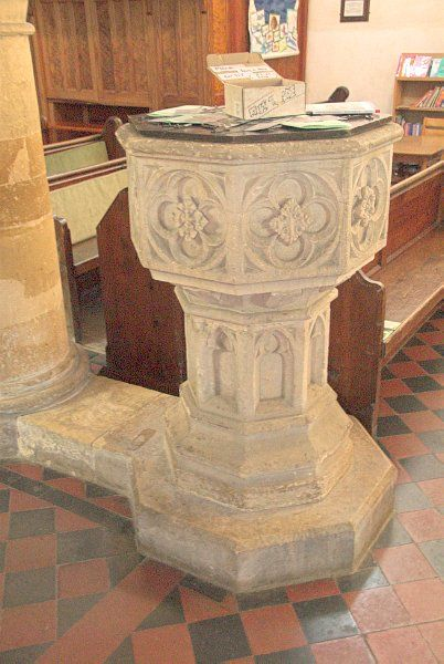 Great Rollright, St Andrews photo, The font