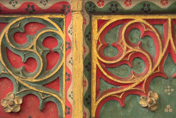 Great Rollright, St Andrews photo, Painted screen detail