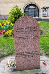 Memorial to Greyfriars Bobby