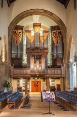 The kirk interior and organ