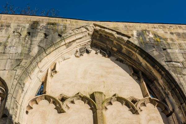 Greyfriars, Gloucester photo, A blocked window and medieval tracery