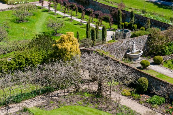 Greys Court photo, The gardens from the Great Tower