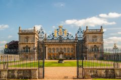 Grimsthorpe Castle, Looking through the ceremonial front gates