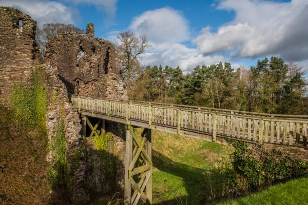 Grosmont Castle photo, The bridge across the moat