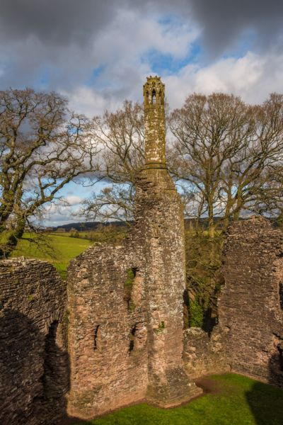 Grosmont Castle photo, Ruins of the Gothic chimney